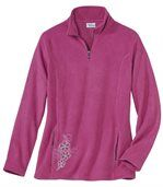 Women's Pink Half-Zip Microfleece Jumper preview2