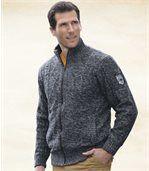 Pletený sveter s flísovou podšívkou preview1