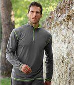 2er-Pack langärmelige Poloshirts mit RV-Kragen preview2