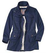 Women's Navy Blue Parka Coat preview1