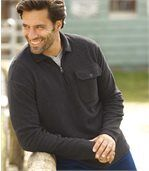 Fleece-Pullover Black Canyon