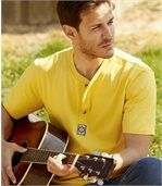 Pack of 3 Men's Navajos T-Shirts - Yellow Blue Ecru preview2