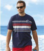 Pack of 2 Men's Cyclades T-Shirts - White Navy preview2