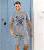 Piżama z szortami Blue Ocean preview1