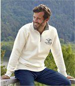 Men's Ecru Wild North Fleece Jumper