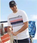 Pack of 2 Men's Cyclades T-Shirts - White Navy preview3