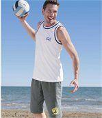 Set van twee mouwloze shirts 'Beach Sport' preview2
