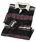 Men's Striped Polo Shirt - Jersey preview2