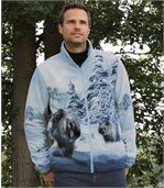 Fleece-Jacke mit Bärenmotiv preview1