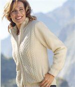 Strickjacke mit flauschigem Fleecefutter preview1