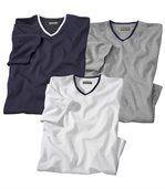 3er-Pack T-Shirts mit V-Ausschnitt preview1