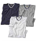 Set van 3 T-shirts met V-hals preview1