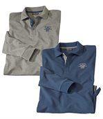 2er-Pack Poloshirts Colorado Spring in Piqué-Quali preview1