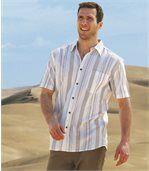 Tkaná farebná károvaná košeľa preview1