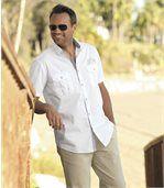 Men's White Aviator Style Shirt preview3