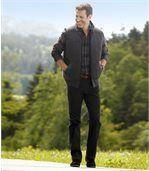 Czarne spodnie Regular ze stretchem preview2