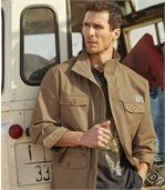Men's Camel Desert Safari Jacket