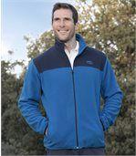 Men's Blue Fleece Zip-Up Jacket  preview1