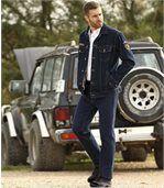 Men's Dark Blue Comfortable Stretch Jeans