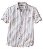 Tkaná farebná károvaná košeľa preview2