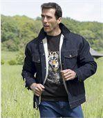 Kurtka jeansowa podszyta kożuszkiem sherpa preview4