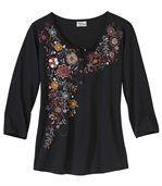 Herfst T-shirt met bloemenprint