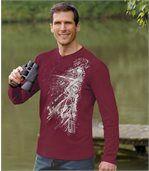 Sada 3 triček s grafickým potiskem a límcem na knoflíky preview2