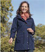 Women's Navy Blue Parka Coat preview2
