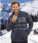 Hrejivý sveter z úpletu a flísu preview1