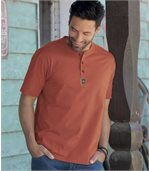 Pack of 3 Men's T-Shirts - Terracotta Grey Ecru preview3