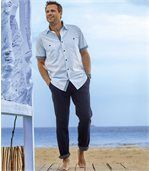 Pack of 2 Pairs of Men's Relaxed Jeans - Grey Blue