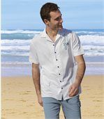 Men's Beach Line White Shirt preview2