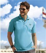 Pack of 2 Men's Polo Shirts - Black Blue