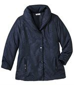 Women's Blue Parka Coat - Shawl Collar preview3