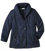 Women's Blue Parka Coat - Shawl Collar preview3