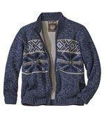 Hrejivý sveter z úpletu a flísu preview2
