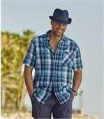 Tweekleurige hoed in Trilby-stijl preview3