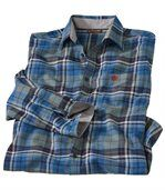 Men's Blue Checked Flannel Shirt preview2