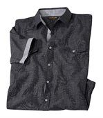 Men's Anthracite Stylish Canvas Shirt preview2