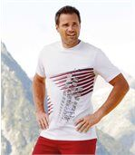 Pack of 3 Patterned T-Shirts - White Black Red preview2