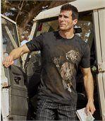 T-Shirt Panter im Batik-Look preview1