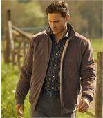 Men's Brown Faux Suede Hudson Jacket