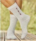 4 Paar Socken mit Jacquard-Muster