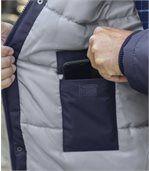 Men's Navy Winter Chill Parka - Faux Fur Hood
