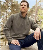 Pack of 2 Men's Microfleece Jumpers - Black Tan preview2
