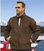Men's Brown Western Style Jacket