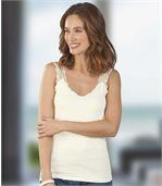 Pack of 2 Women's Vest Tops - Lace Straps preview2