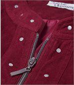 Jacke aus pfirsichweicher Wildlederoptik preview4