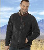 Blouson Polaire Homme Anthracite doublé Sherpa preview1