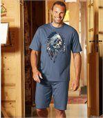 Kurzer Pyjama Indianerhäuptling preview1